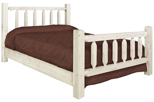 (Montana Woodworks MWHCTBV Homestead Collection Bed, Twin, Clear Lacquer)