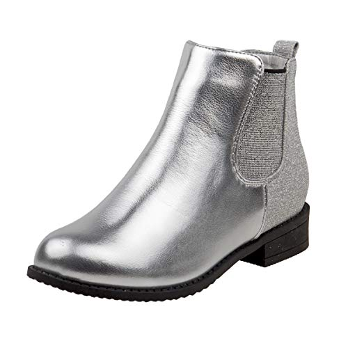 Nanette Lepore Girls Elastic Gore Bootie, Silver, 13 M US Little Kid' ()