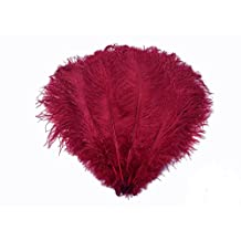 Kolight500pcs 8''~10''(20cm~25cm) Natural Ostrich Feathers for DIY Wedding, Party ,Home ,Hairs Decoration (Burgundy)