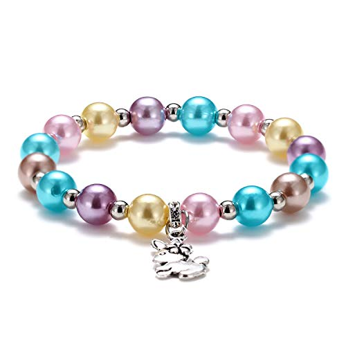 Easter Bunny Beaded Stretch Colorful Bracelets Jewelry Spring Easter Gifts a Great Easter Basket Filler -
