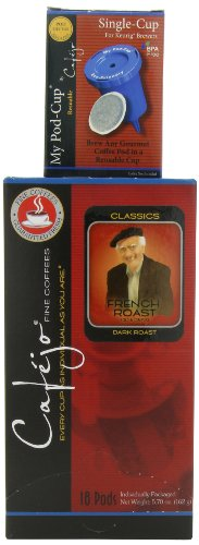Cafejo Single Cup Coffee Pods, French Roast (36 Count) wi...
