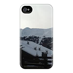 [QBzRZOF5624mGkRw]premium Phone Case For Iphone 4/4s/ Good Snow Time For Sport In Mountain Alps Tpu Case Cover
