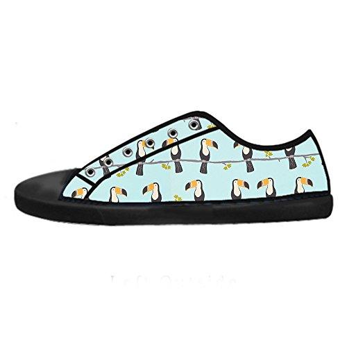 Dalliy Toucan Bird Cartoon Mens Canvas shoes Schuhe Lace-up High-top Sneakers Segeltuchschuhe Leinwand-Schuh-Turnschuhe A