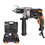 Hammer Drill, TACKLIFE 850W 3000 RPM Impact Drill with 15 Drill Bit Set,Storage Case,360°Rotating Hand, Aluminum Machine Shell, Hammer and Drill 2 Mode in 1, Suitable for DIY Woodworking-PID03B