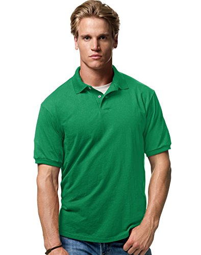 - Stedman By Hanes Blended Jersey Sport Shirt, Kelly , XXX-Large