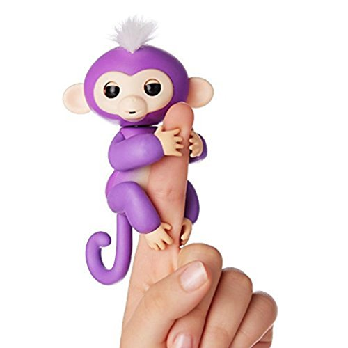 Price comparison product image Interactive Baby Monkey, Wow wee Fingerlings Pet Electronic Little Baby monkey Children Kids Toys (Purple)