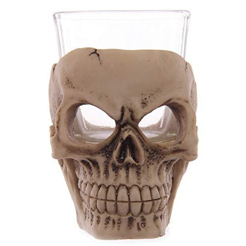 DeemoShop Skull Gothic Tea Light Candle Tealight Votive Holder Halloween Reaper Death Skull Scented Oil Absorbent Candle Holder Desk Decor