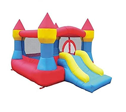 Astonishing Castle Inflatable Bounce House W Slide 12 X 9 Blower Included Interior Design Ideas Gentotryabchikinfo