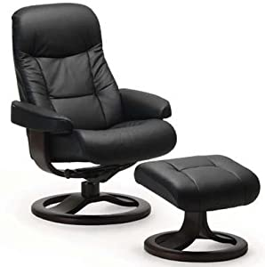 Leather Norwegian Ergonomic Scandinavian Lounge Reclining Chair Fjords 215 Muldal Small Recliner Furniture Nordic Line Genuine Black Leather Walnut Wood  sc 1 st  Amazon.com & Amazon.com: Leather Norwegian Ergonomic Scandinavian Lounge ... islam-shia.org