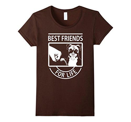 Best Friend Boxer - Women's Boxer Dog Best Friends For Life Tshirt Medium Brown