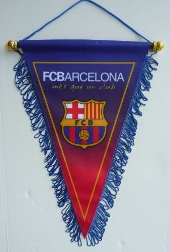 FC BARCELONA BADGE LOGO FOOTBALL SOCCER TRIANGLE PENNANT BANNER ()