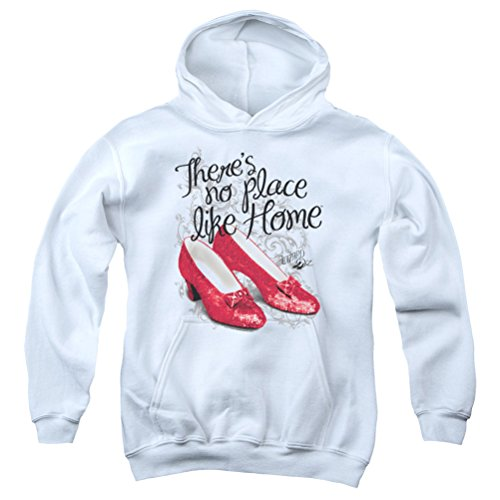 - Kids The Wizard Of Oz Red Ruby Slippers Youth Hoodie, White, XL