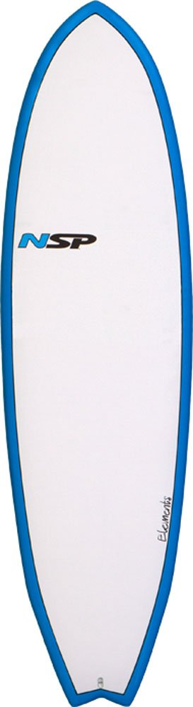 NSP 6 4 Fish Elements Tabla de Surf, 64 Fish Elements, White/Blue: Amazon.es: Deportes y aire libre