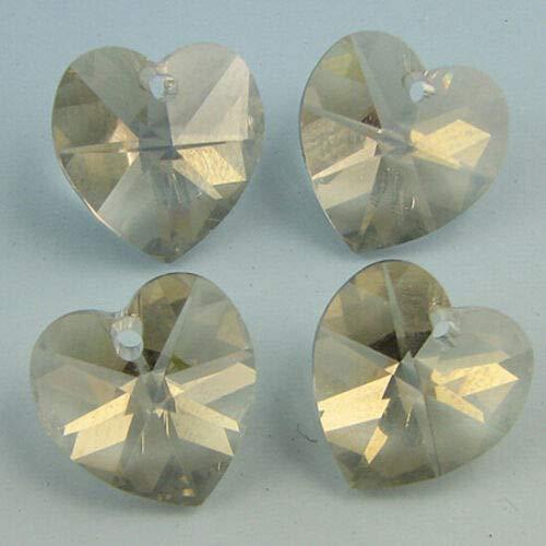 4 10mm Swarovski Crystal Heart Pendant 6202 ()