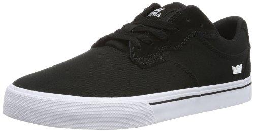 Supra Axle Skate Shoe - Mens Black Canvas/Suede/Nubuck