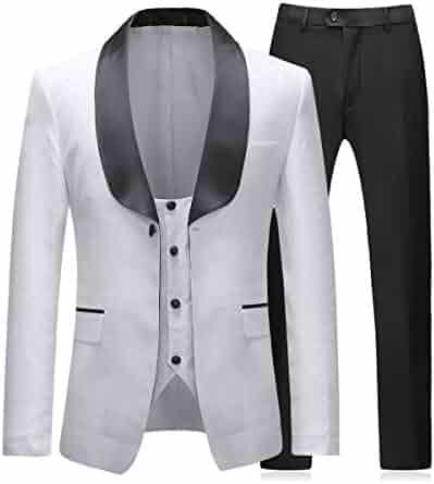b3a4e3b12 Boyland Mens 3 Pieces Tuxedos Vintage Groomsmen Wedding Suit Complete  Outfits(Jackets+Vest+