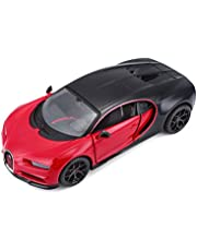 """Bugatti Chiron Sport """"16"""" Red and Black """"Special Edition"""" 1/24 Diecast Model Car by Maisto"""