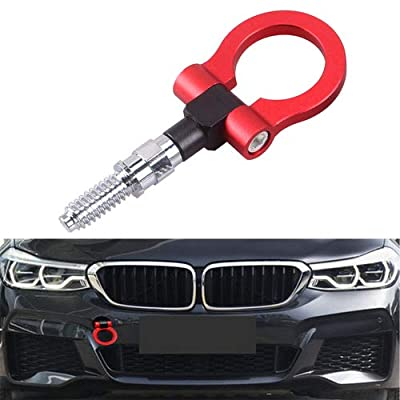 Heart Horse Universal Racing Towing Car Tow Hook for BMW 1 3 5 Series E39 E70 E71 E81 E82 E88 E90 E91 E92 E93 Mini Copper, Auto Aluminum Trailer Ring Car Accessories(Red): Automotive