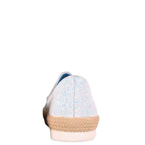 Bambu Marisa-01s Kvinna Glida På Glitter Sneaker Vit
