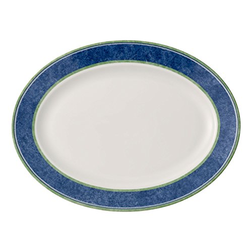 Villeroy & Boch Switch 3 Serving Plate, 35 cm, Porcelain, White/Blue/Green