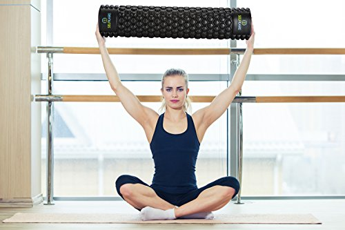 Foam Roller - 24 inch Long - Firm, Sturdy, Solid Core, High Density. Best Roller for Trigger Point Release on Back, Legs, IT Bands. by SelfKare Fitness (Image #7)