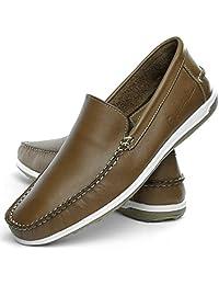 Sapato mocassim Masculino Mr Light Couro Confort Liso Italia