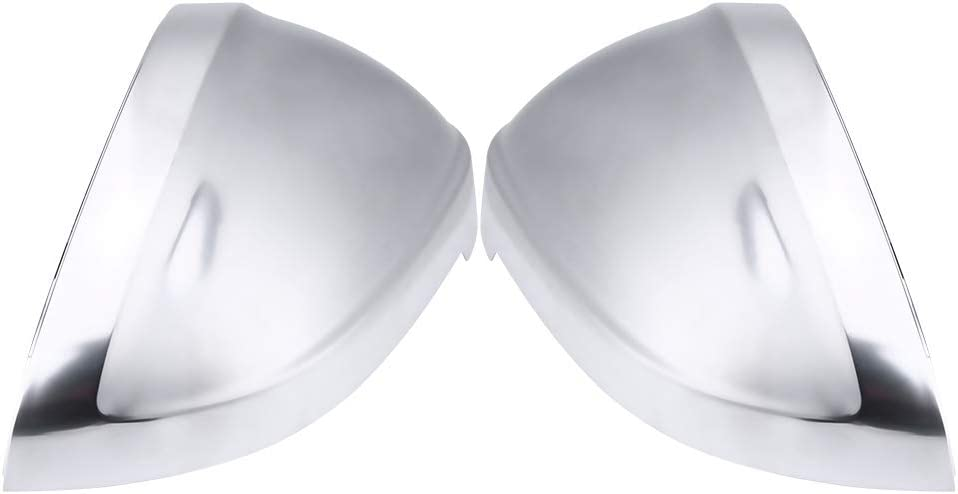 2Pcs Door Rearview Mirror Cover Side Mirror Cap Matte Chrome Rearview Mirror Shell Cover Protection Cap for B9 A4 A5 S4