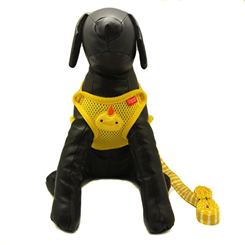 Alfie Pet by Petoga Couture - Pela Step-in Harness and Leash Set - Color: Yellow, Size: Large