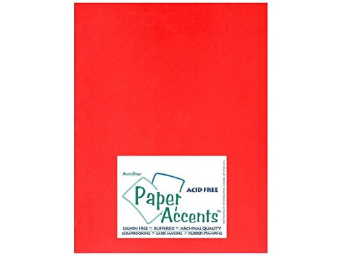 Papel de Accent diseño Acentos adptx8511–25.101Lite Stock 21,6x 27,9cm Rojo cartulina