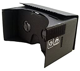 EightOnes VR Google Cardboard Kit with Head Strap and NFC (Jet Black)