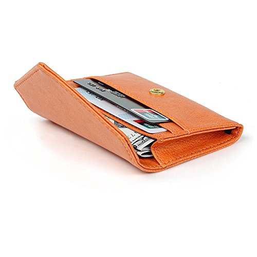 Envelope Style Leather Case Front Pocket Wallet Super Thin Fashion Card Holder With ID Card Slots