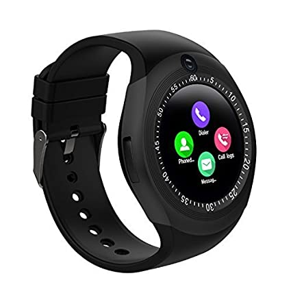 173406c8e Welrock Y1 Smart Watch Round Support Nano SIM &TF Card with Bluetooth 3.0  Men Women Business Smartwatch. by Welrock: Amazon.in: Computers &  Accessories