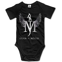 Kids Baby Michael Jackson MJ Short Sleeve Romper Black