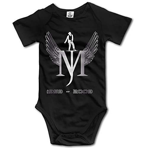 Michael Jackson Smooth Criminal Outfit (Kids Baby Michael Jackson MJ Short Sleeve Romper Black)