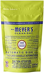 Mrs. Meyer's Clean Day Automatic Dishwasher Detergent Packs, Cruelty Free Formula Dish Soap Tablets, Lemon
