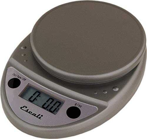 San Jamar SCDG11M Round Digital Food/Kitchen Scale, 11lb Capacity, Metallic