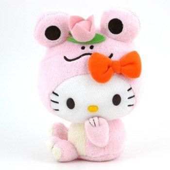 Hello Kitty Plush: Pink (Hello Kitty Frog)