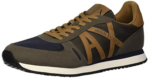 X Armani Running A Retro Exchange Brown Men Dark Hxdqwa8p