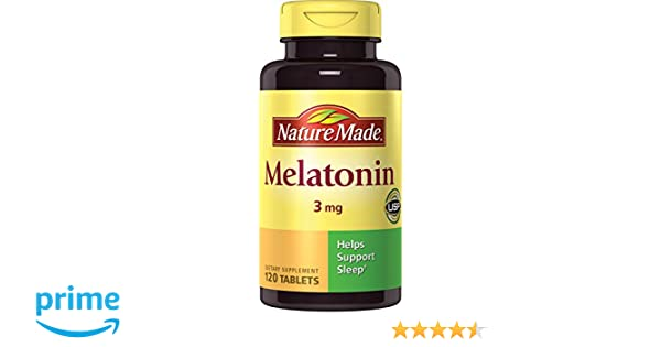 Amazon.com: Nature Made Melatonin Tablets, 120 Count (Pack of 2 ...