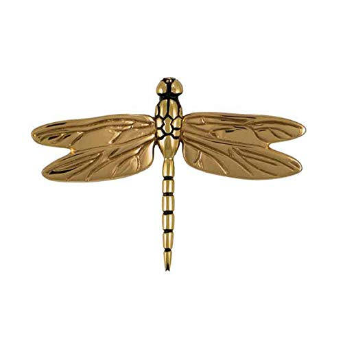 Dragonfly in Flight Door Knocker - Brass (Standard Size)