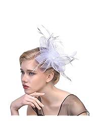 Women Chic Fascinator Hat Tea Party Church Headwear Bridal Headpiece
