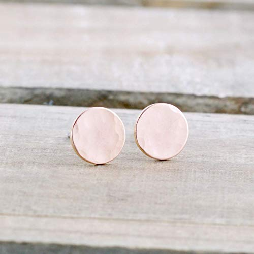 489bc544b Stud Earrings Rose Gold Filled Dots - Hammered Texture $29.00