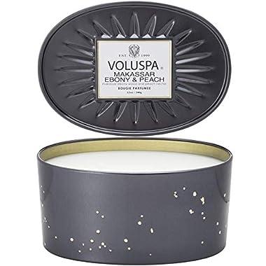 Voluspa Makassar and Ebony 2 Wick Tin Candle, 12 Ounces