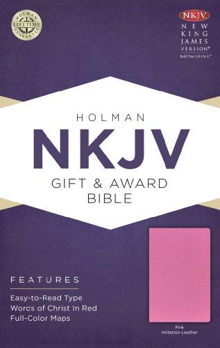 NKJV Gift & Award Bible, Pink Imitation (Leather Award)