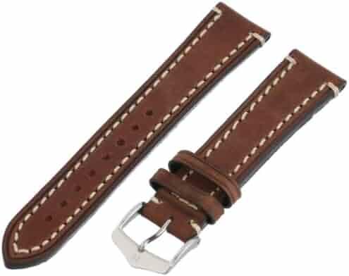 Hirsch 109002-10-20 20 -mm  Genuine Calfskin Watch Strap