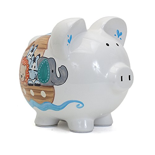 Child to Cherish Ceramic Piggy Bank for Boys, Noah's ()