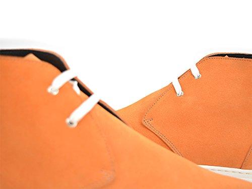 Sconosciuto Yuri - Arancione Scamosciata Sneaker Avvio Le Proprie Scarpe Di Lusso Personalizzato Fatto Di Arancio In Pelle Scamosciata Scarpa Da Tennis, 100% A Mano In Italia