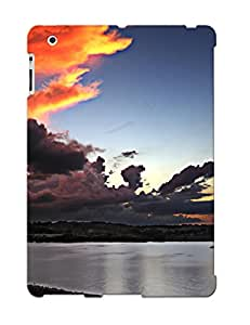 Design High Impact Dirt/shock Proof Case Cover For Ipad 2/3/4 (colorful Clouds Over The Shore )