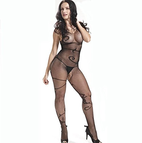 GEBDSM-Sexy-Women-Stretchy-Black-Lace-Fishnet-See-Through-Elastic-Bodystocking-With-Open-Crotch-Crotchless-Chemise-Lingerie-Bodysuit-For-Sex-Fishnet-Tights