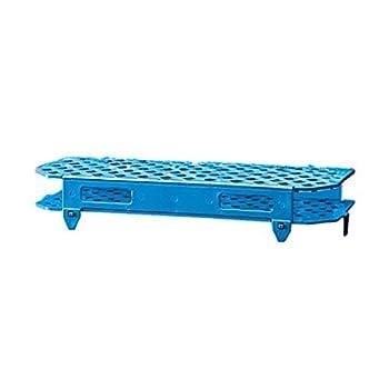 Dynalon Kartell 225675-0002 Polypropylene Microcentrifuge Tube Rack, Blue (Case of 5)